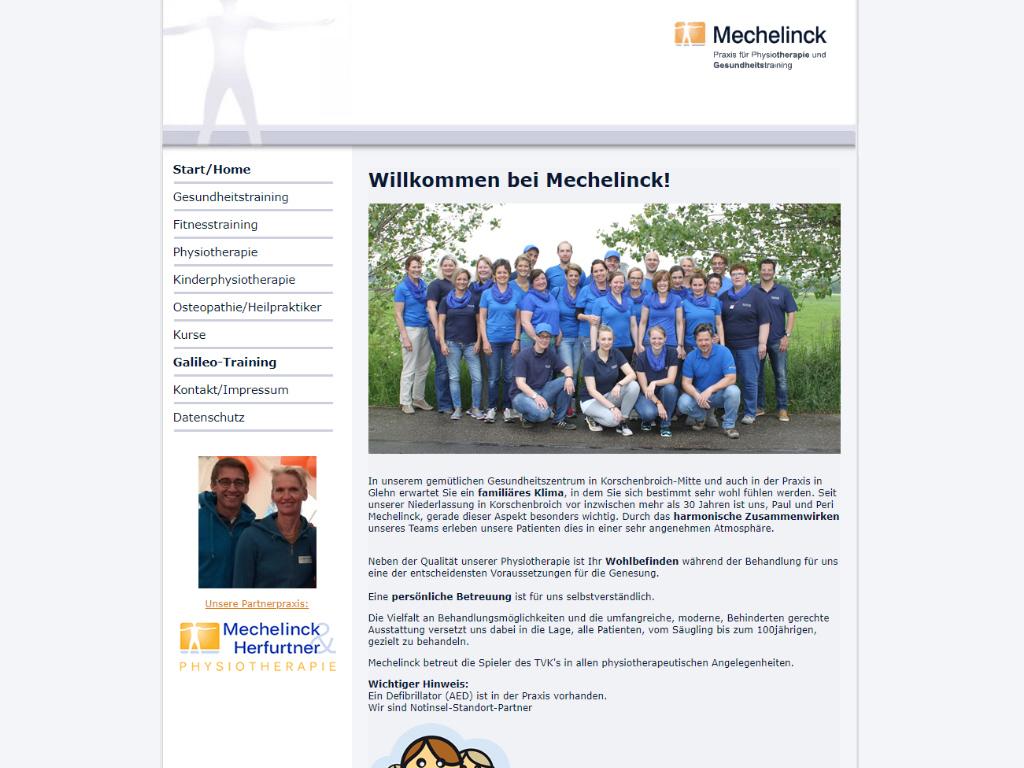 Praxis für Physiotherapie und Gesundheitstraining - Medizinische Fitness - Peri Mechelinck