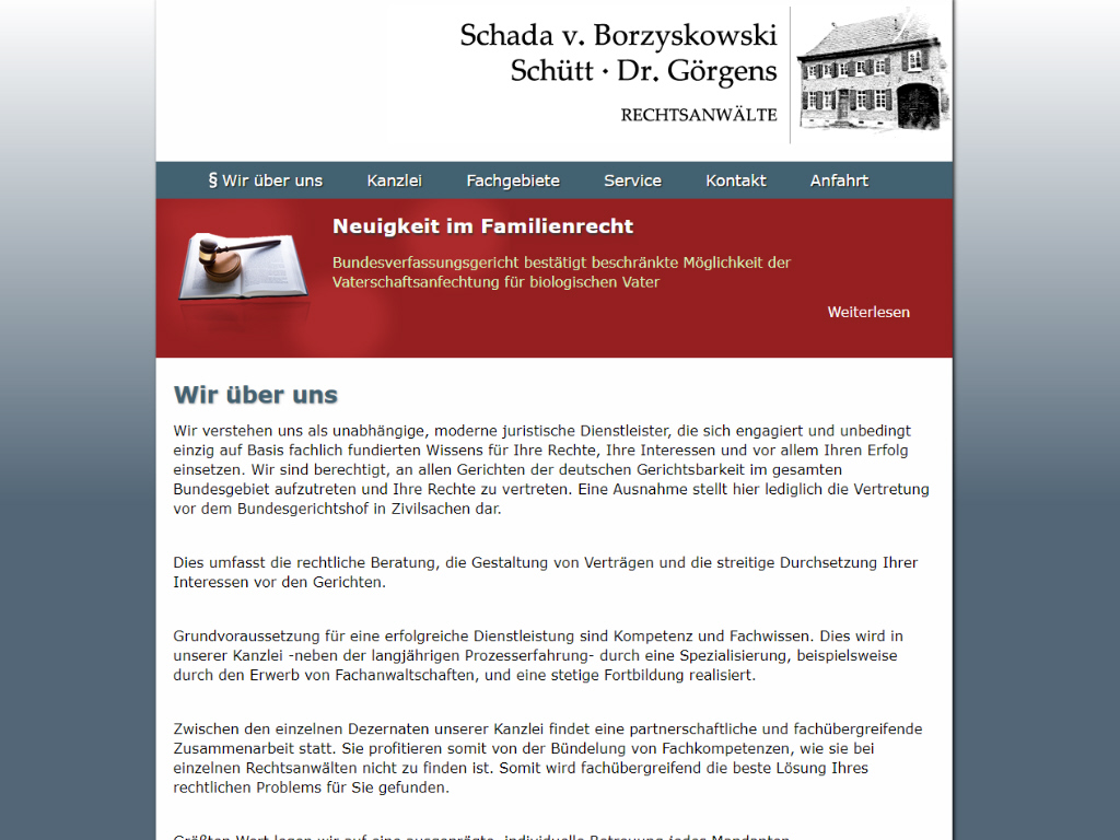 Rechtsanwälte Schada von Borzyskowski, Schütt & Dr. Görgens GbR