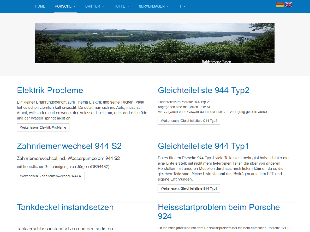 Stinnis private Homepage