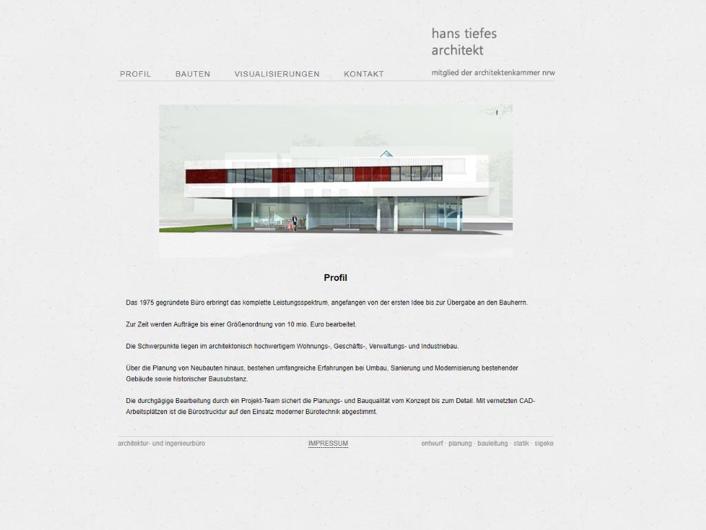 Architekt H. Tiefes